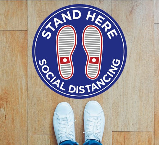 COVID-19 Social Distancing Stand Here Floor Graphics