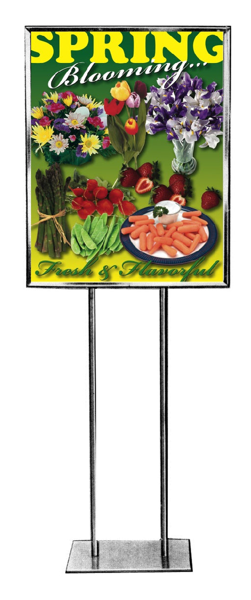 Spring Blooming Floor Stand Stanchion Signs