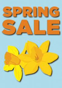 Spring Sale Window Sign Posters