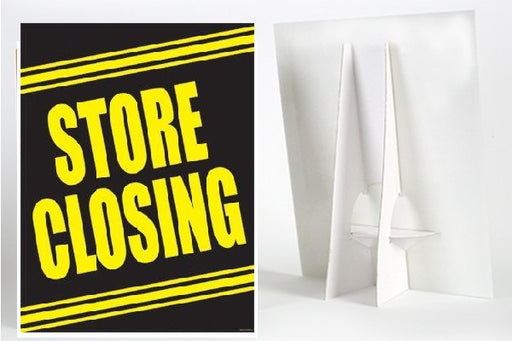 Store Closing Countertop Easel Sign