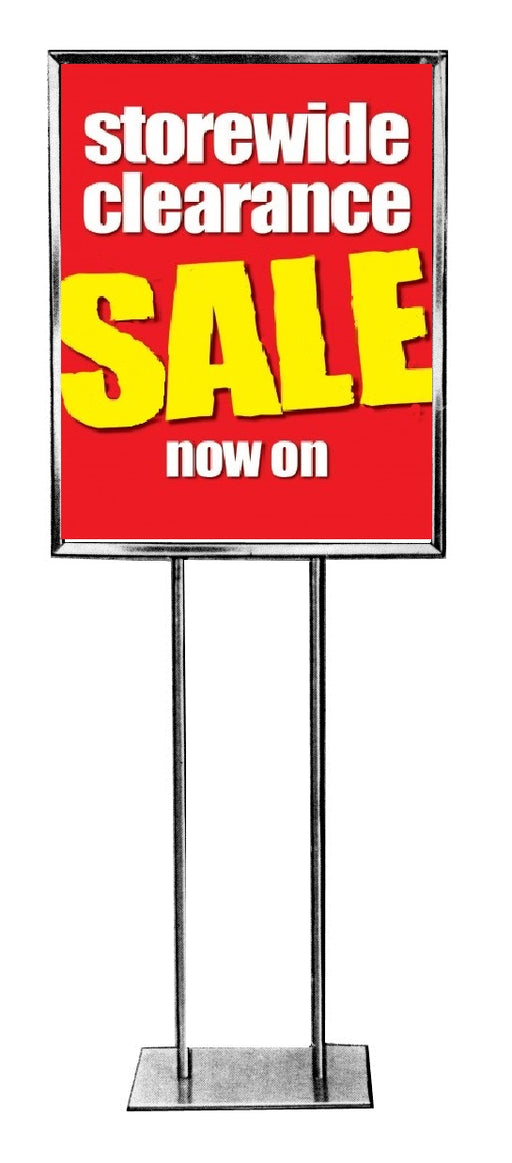 "Store Wide Clearance Sale Standard Poster- Floor Stand Stanchion Sign-22"" x 28"""