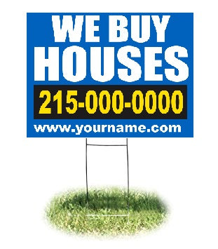 "Lawn-Yard-Bandit Signs-We Buy Houses-Real Estate- 24 ""x 18"""