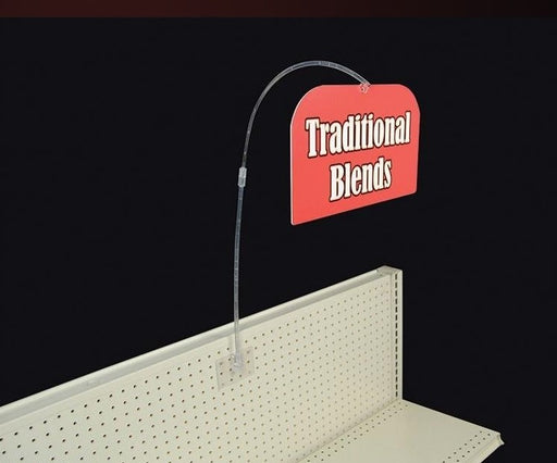 Sign Holder-Sign Wobbler for Pegboard-10 pieces