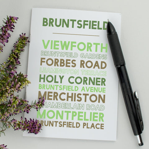 Bruntsfield Notebook