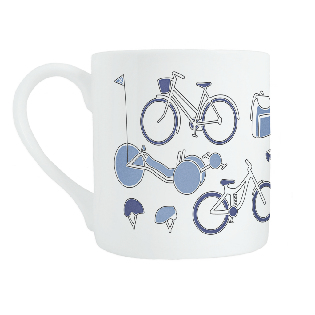 Cycling bone china mug