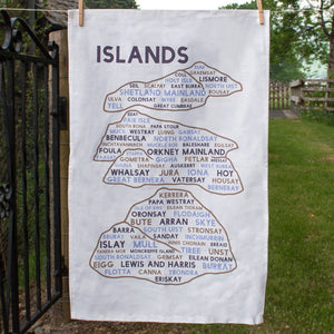 Full view of Islands tea towel