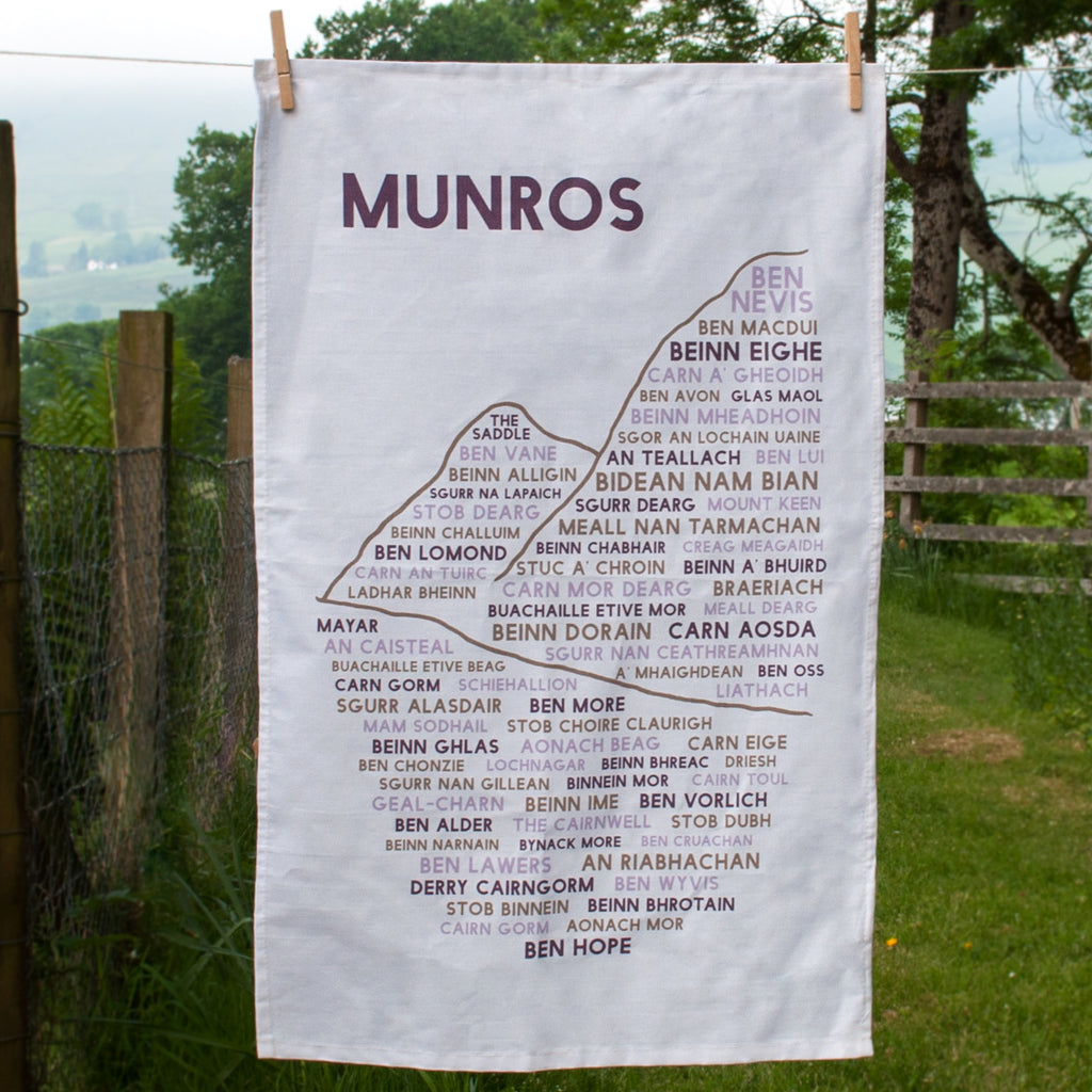 Full view of Munros tea towel