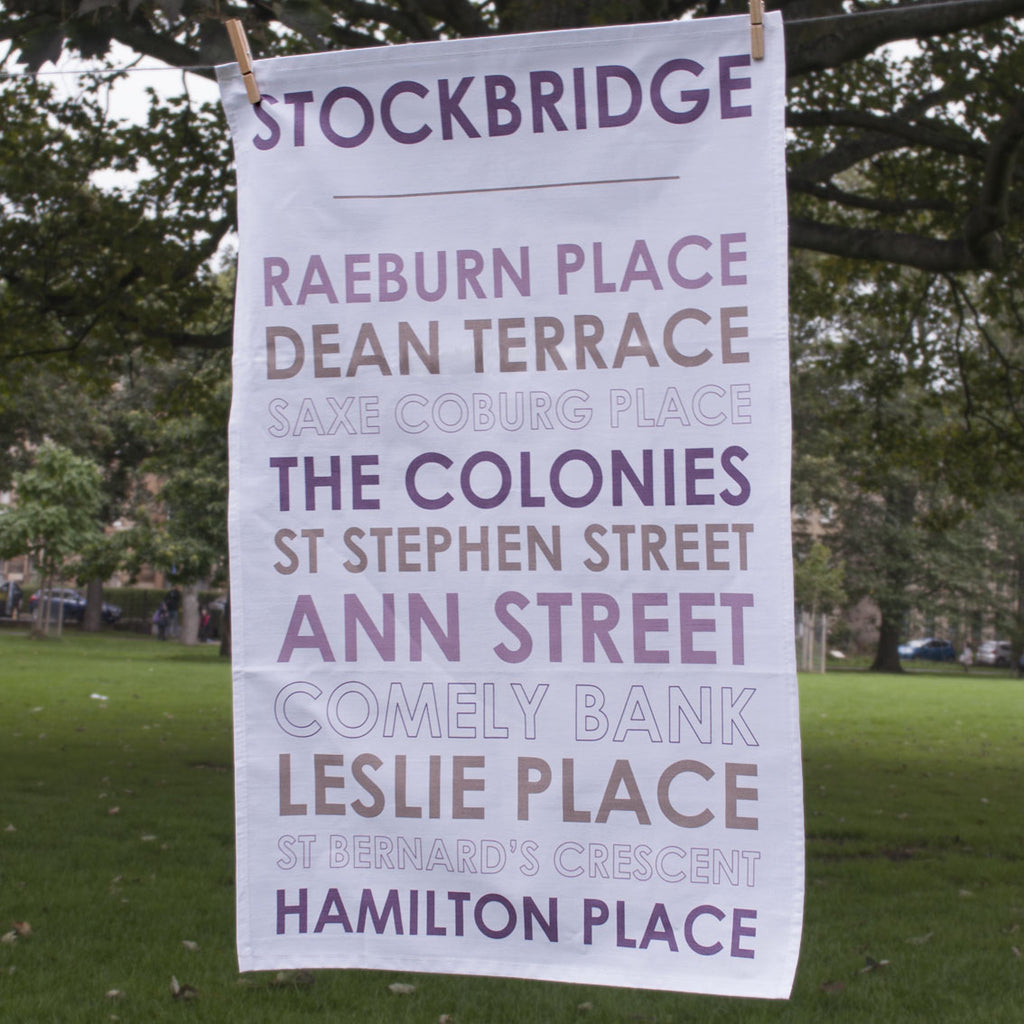 Full view of Stockbridge tea towel