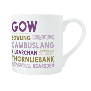 Glasgow bone china mug