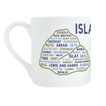Scottish islands bone china mug