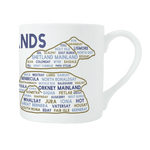 Scottish islands mug