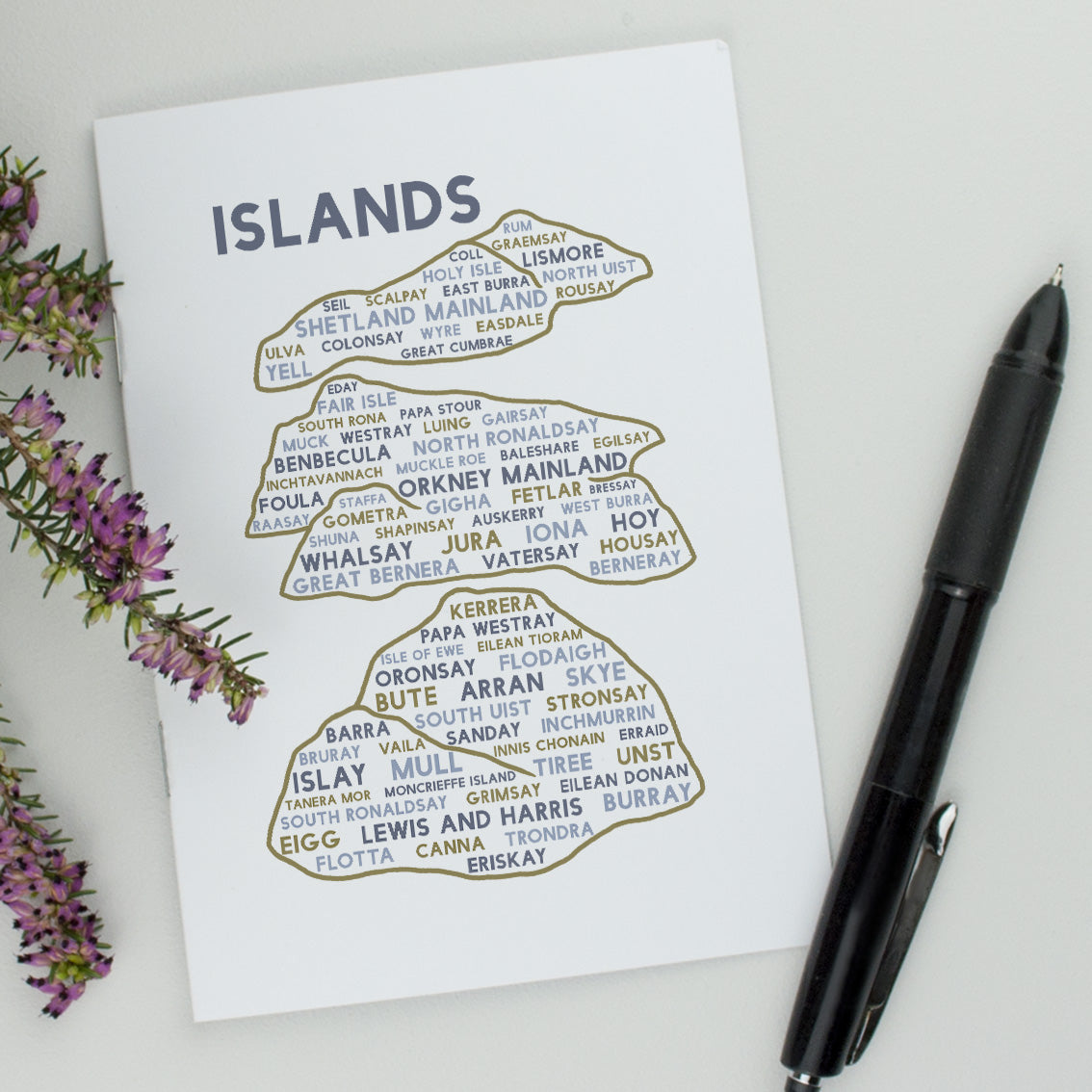 Scottish islands notebook