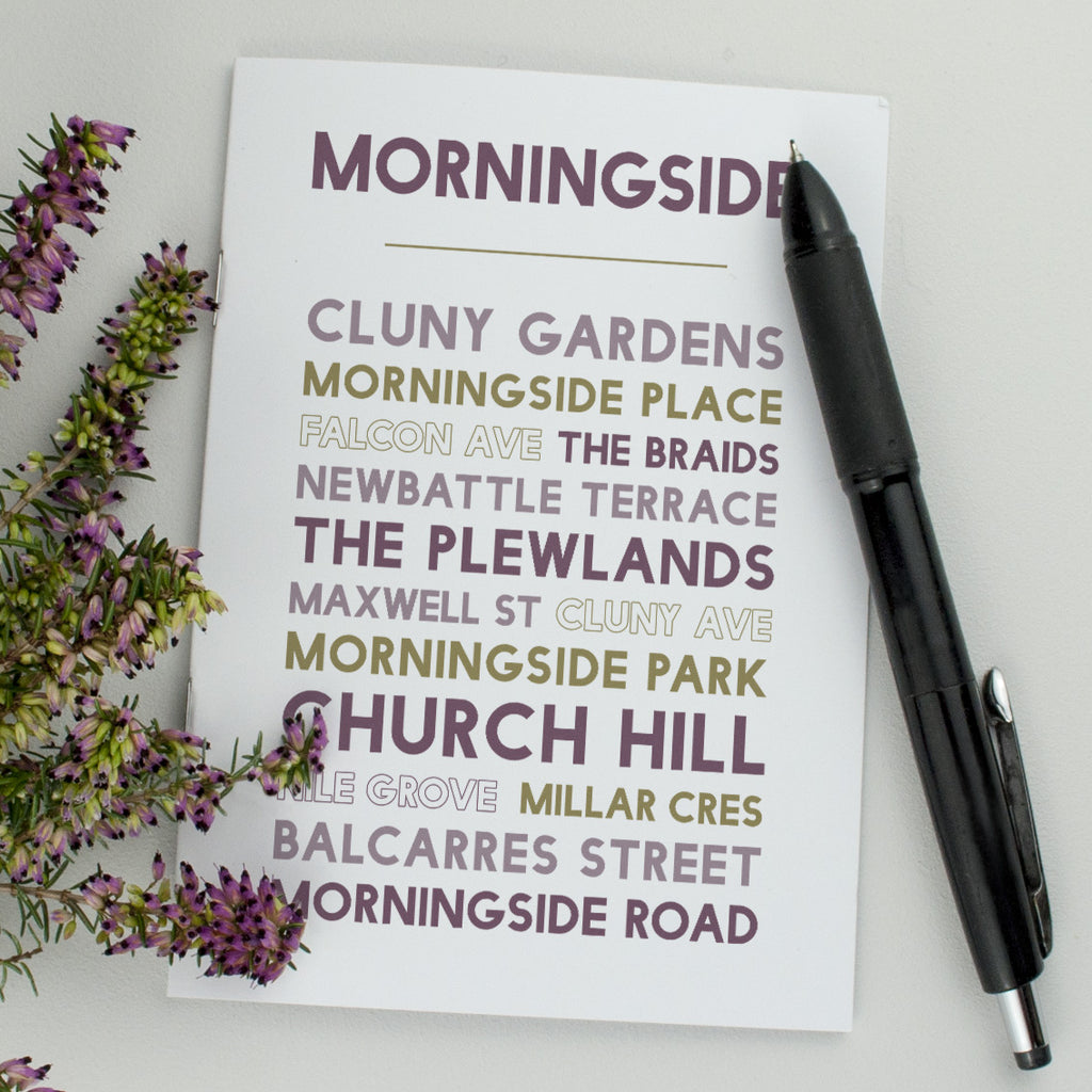 Morningside notebook Edinburgh gift