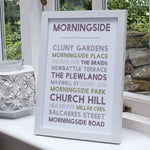 Morningside print Edinburgh wall art gift