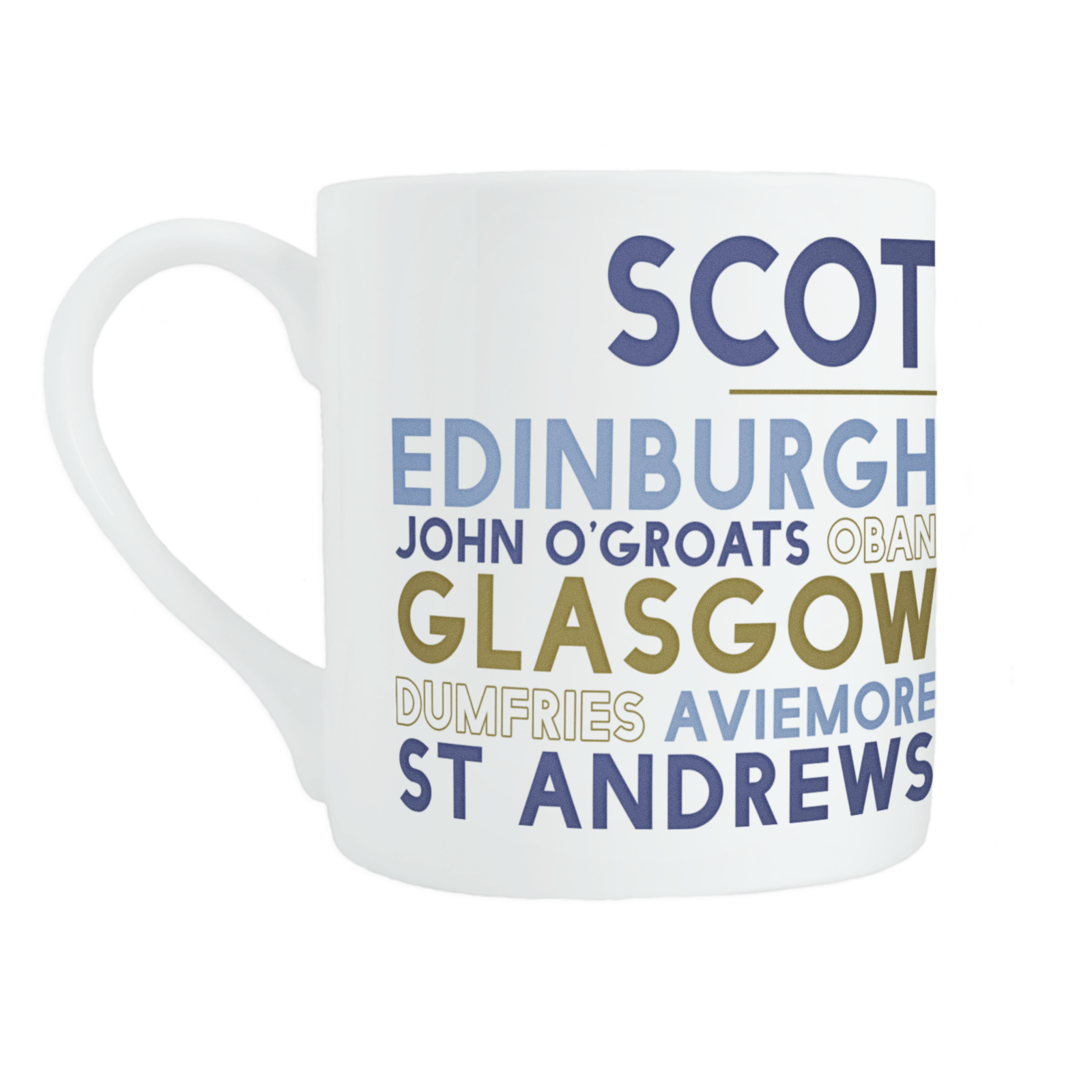 Scotland bone china mug