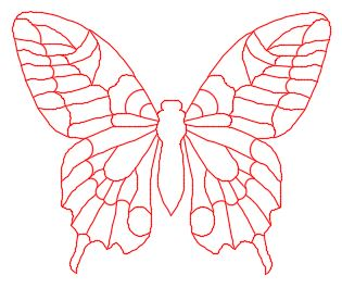 Stained Glass PATTERN Butterfly Original Template
