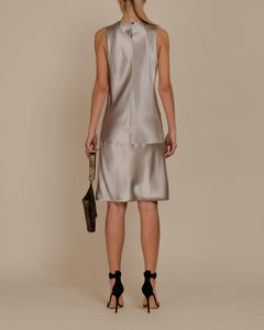 Peter Cohen Silver Layered Dress