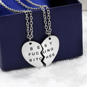 Best fucking bitch silver necklace