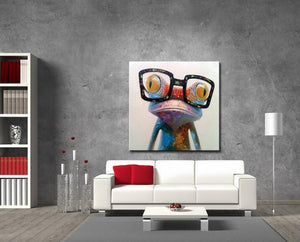big glasses frog wall livingroom view