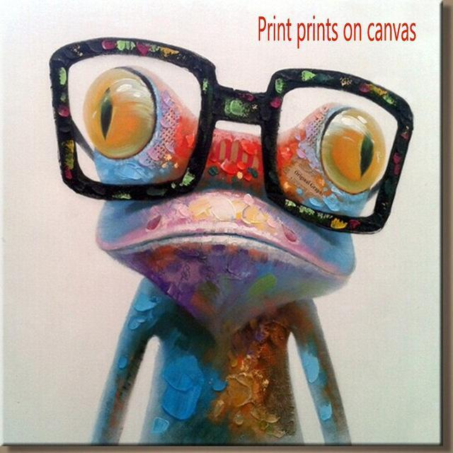 print on canvas frog
