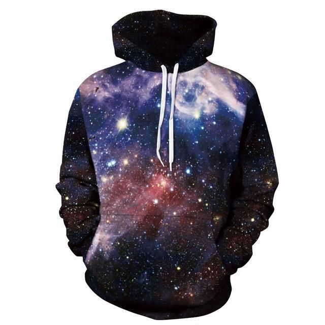 galaxy hoodie front blue red black