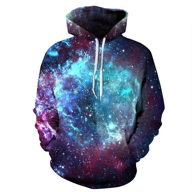 galaxy hoodie front red blue light blue