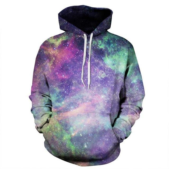 galaxy hoodie front white pink green