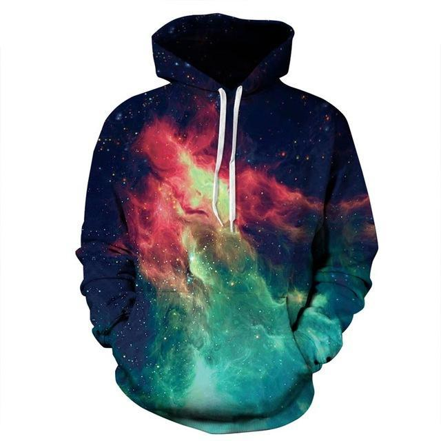 galaxy hoodie front green red blue