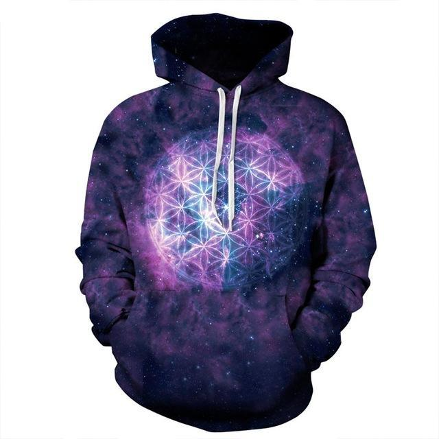 galaxy hoodie front purple blue