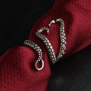 kraken ring red cloth top view