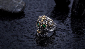 warrior skull ring black side view