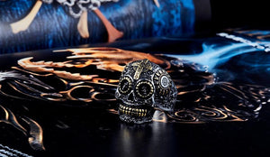 warrior skull ring fire