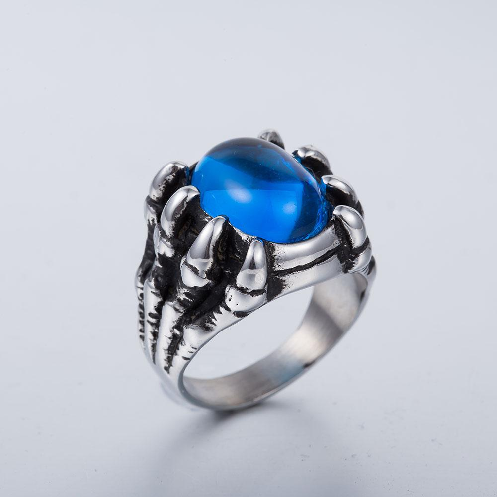 blood claw ring blue side top view