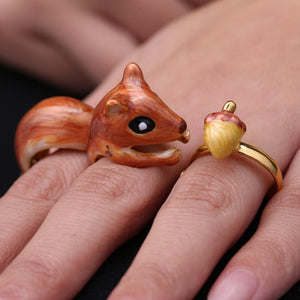 3Pcs Squirrel Ring
