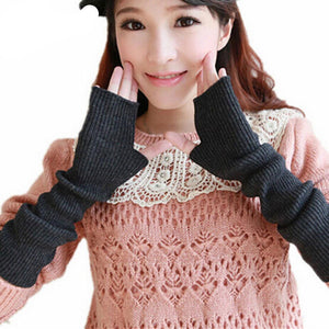 Fingerless Long Gloves