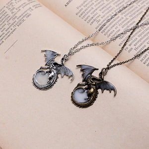 dragon pendant glow in the dark realistic view