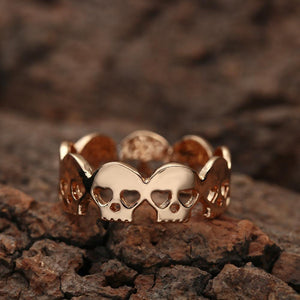 Cute Skull Ring gold side view