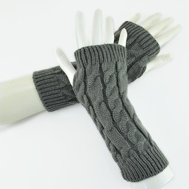 Knitted Fingerless Gloves