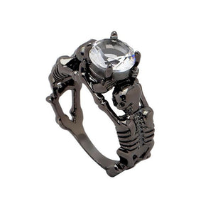 Skeleton Ring white black