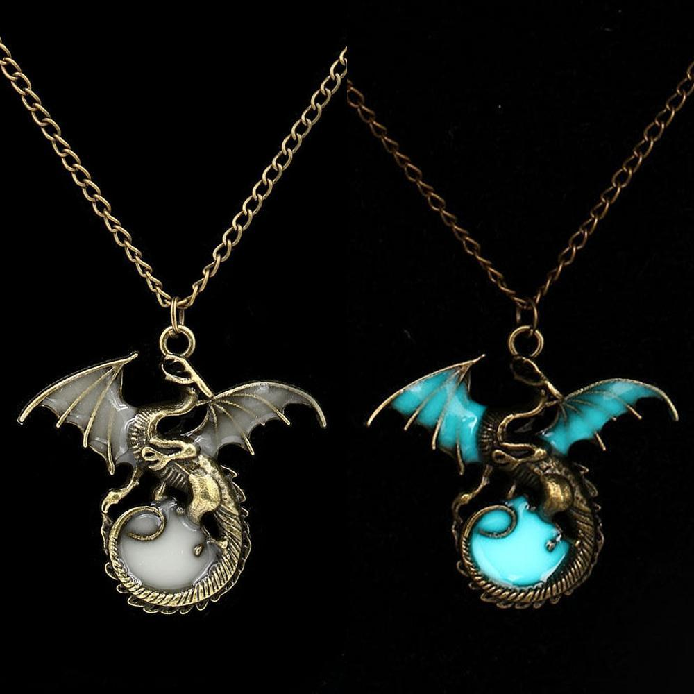 dragon pendant glow in the dark compare green