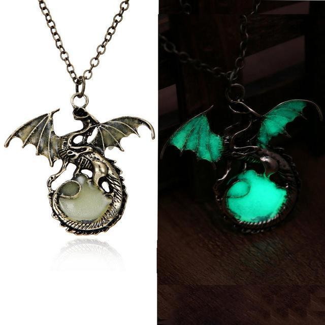 green dragon pendant glow in the dark