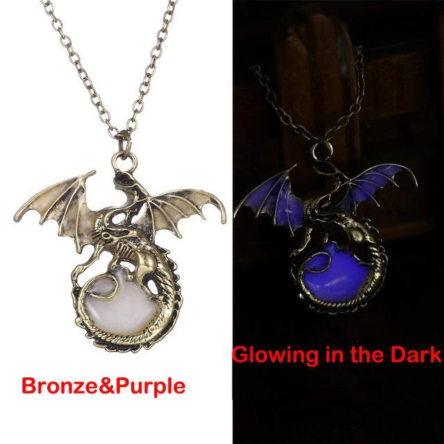 Glow In The Dark Dragon Pendant