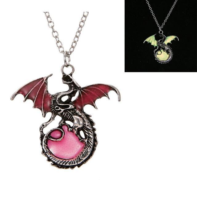 red metal dragon pendant glow compare red