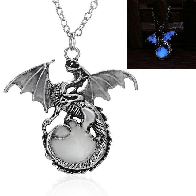 dragon pendant glow in the dark compare blue