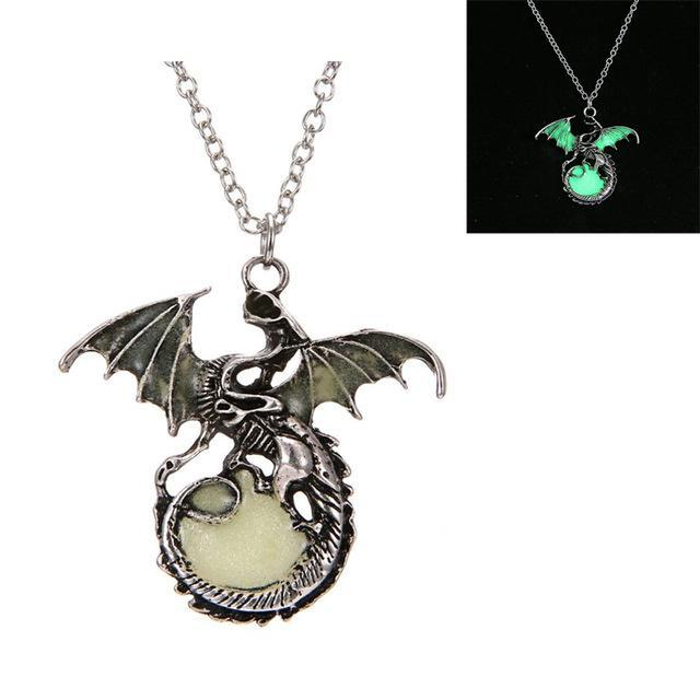 dragon pendant glow in the dark green small image