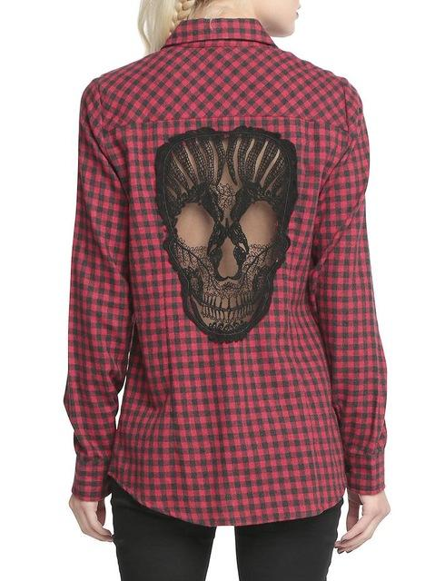 KillPunk™ - Skull Hollow Out Shirt back