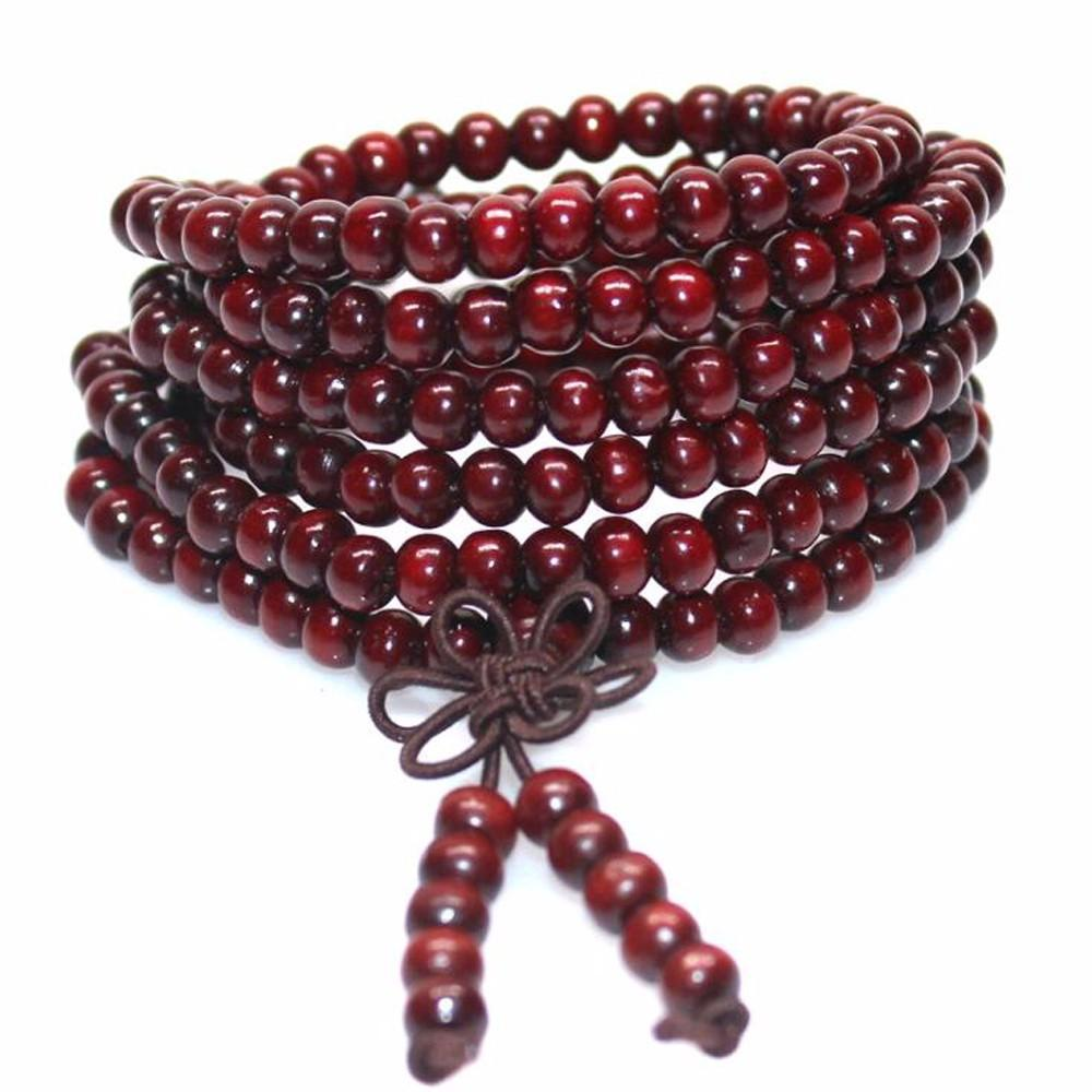 red beaded bracelet side