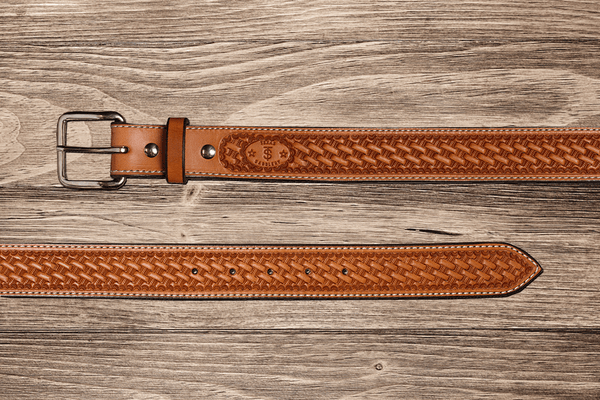 Natural Basket Belt 56