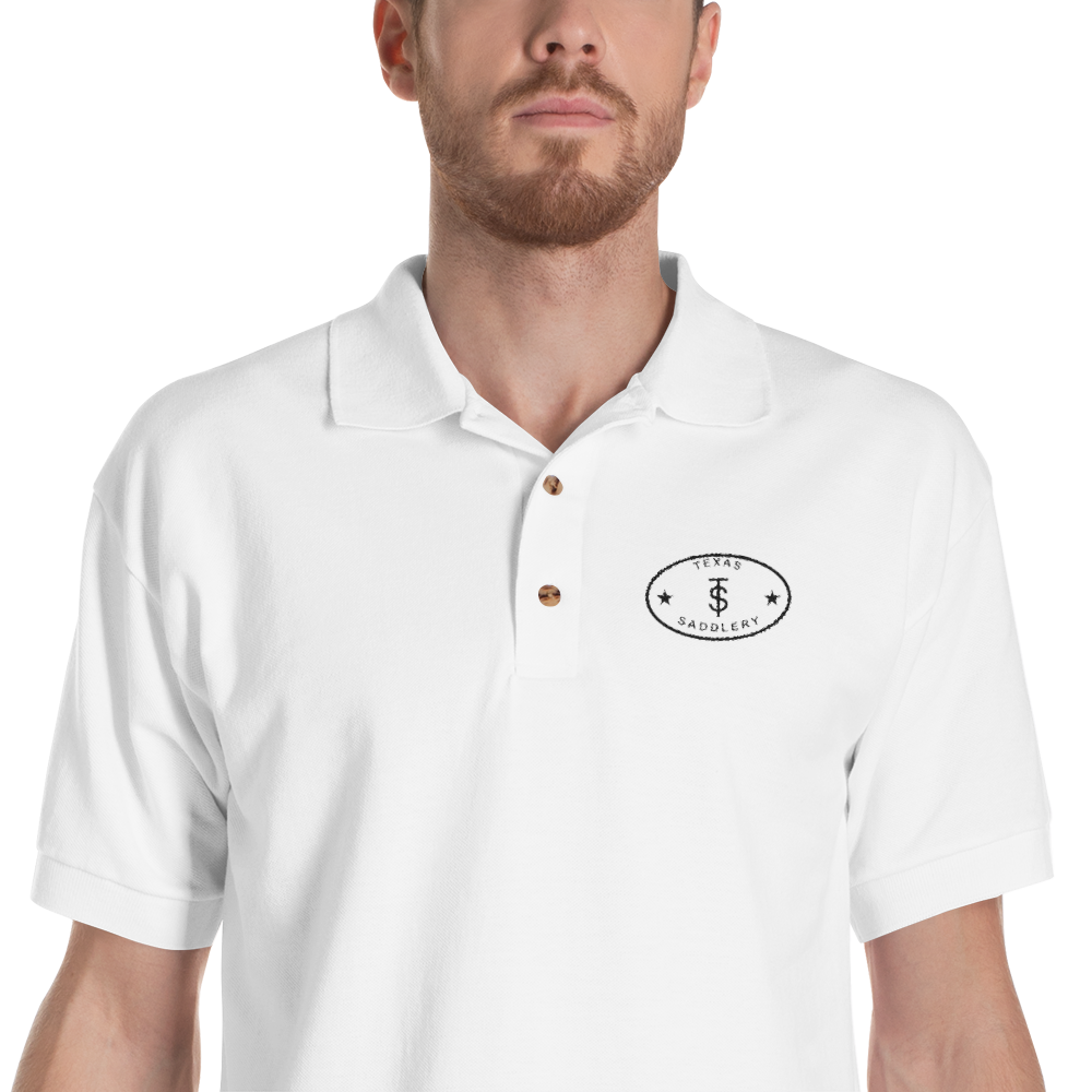 Texas Saddlery Embroidered Polo Shirt White / L