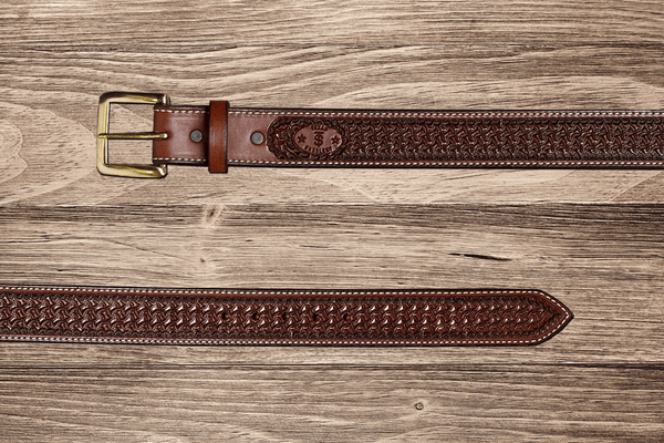 Western Chocolate Spider Belt 34